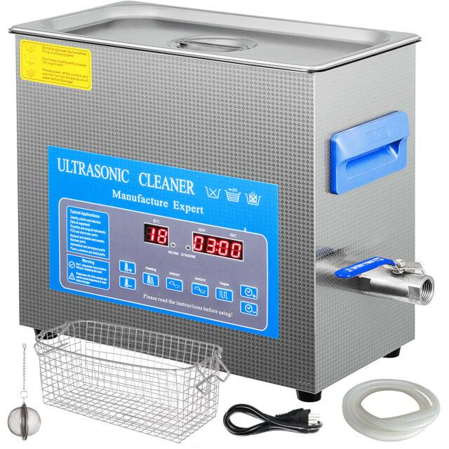 6l Digital Ultrasonic Cleaner With Heater 28/40khz Stainless Steel Lab