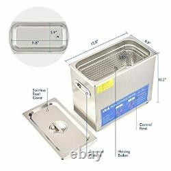 6L Professional Ultrasonic Cleaner with Digital Timer&Heater for Jewelry