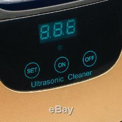 750ml Household Digital Ultrasonic Cleaner Touch Panel Cleaning Machine Portable