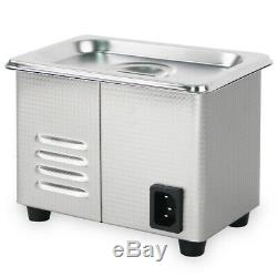 800ml 0.21Gallon 60W Digital Ultrasonic Cleaner Stainless Steel Watches Jewelry