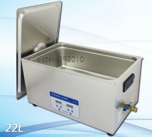 Ac110v 480w 22 Liters Digital Ultrasonic Cleaner With Heater And Timer-010t