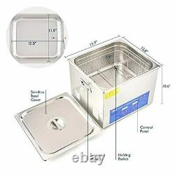 CO-Z 15L Professional Ultrasonic Cleaner with Timer Digital for Cleaning Jewelry