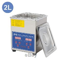 CO-Z 2L Professional Ultrasonic Cleaner with Digital Timer&Heater for Jewelry