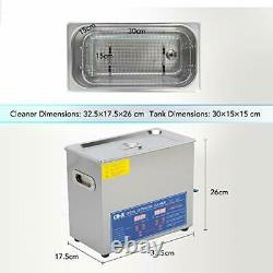 CO-Z 6L Professional Ultrasonic Cleaner with Digital Timer&Heater for (6L)