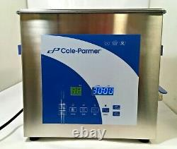 Cole-Parmer 9 Liter Ultrasonic Cleaner with Digital Timer 08895-13 AS IS