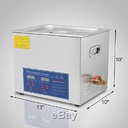 Commercial Grade Digital Ultrasonic Cleaner PS-40A Stainless Steel 10L (2.6G)