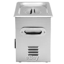 Commercial Ultrasonic Cleaner 3L Stainless Steel with Heater and Digital Control