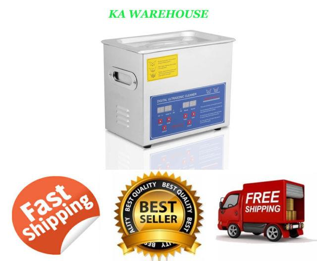 Commercial Ultrasonic Cleaner Solution 3l With Digital Timer Jewelry Watch Glasses