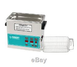 Crest 0.75Gal. Digital Benchtop Ultrasonic Cleaner with Basket, CP230D