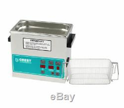 Crest 0.75Gal. Digital Benchtop Ultrasonic Cleaner with Basket, P230D-45