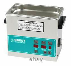 Crest 0.75Gal. Digital Benchtop Ultrasonic Cleaner withHeater and Timer, CP230D