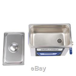 Digital LCD Ultrasonic Cleaner Cleaning Machine TUC-65 Stainless Steel VEP