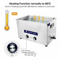 Digital Stainless Ultrasonic Cleaner Ultra Sonic Bath Cleaning Tank Heater Timer