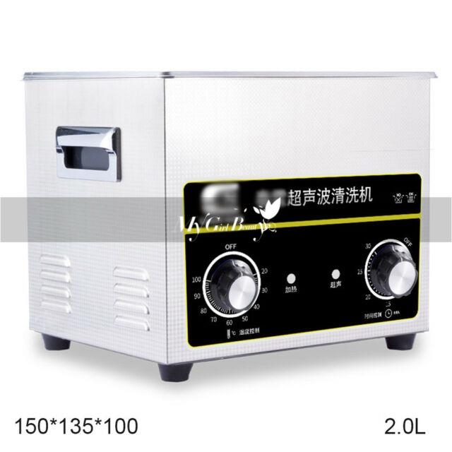 Digital Stainless Ultrasonic Cleaner Ultra Sonic Bath Cleaning Timer Tank Heat