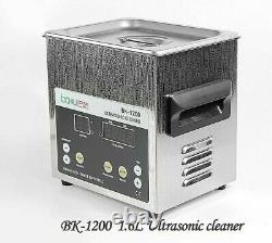 Digital Ultrasonic Cleaner 1.6L 220V Timing Heating Stainless Steel Combination