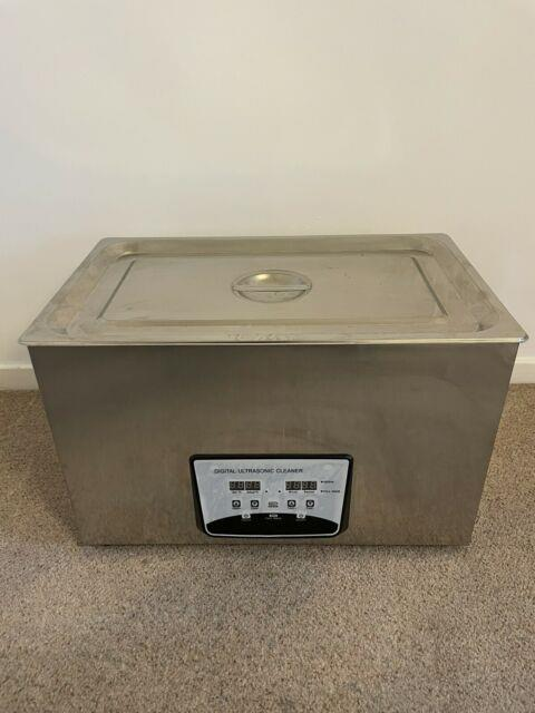 Digital Ultrasonic Cleaner Degas Timer Stainless Steel Container 30l Uk Plug