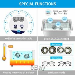 Digital Ultrasonic Cleaner Degas withTimer Ultra Sonic Bath Jewelry Carb Parts Lab
