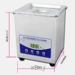 Digital Ultrasonic Cleaner Dental Lab Jewelry With Heater and Degassing 220V 2L