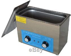 Digital Ultrasonic Cleaner Dental Lab jewelry 4L with heater Timing 220V cleanin