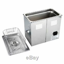 Digital Ultrasonic Cleaner Stainless Steel For Electronic Jewelry Eyeglasses