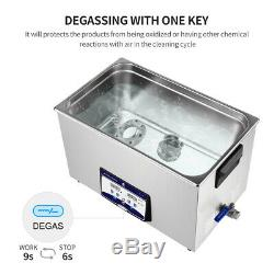 Digital Ultrasonic Cleaner Ultra Sonic Bath Heated Timer Cleaning Parts + Basket