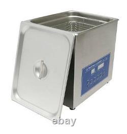 Dual Double Frequency 28/40khz Digital Ultrasonic Cleaner Cleaning Machine 10L t
