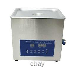 Dual Double Frequency 28/40khz Digital Ultrasonic Cleaner Cleaning Machine 15L t