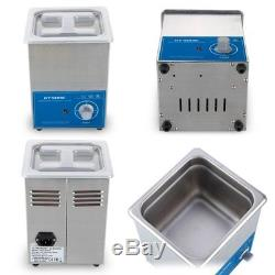 GT SONIC Ultrasonic Cleaner 2L Stainless Tank with 15-Minutes Digital Timer for