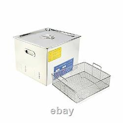 HFS R Commercial Grade Digital Ultrasonic Cleaner Stainless Steel 15L 4GAL