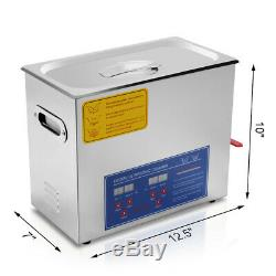 HFS(R) Commercial Grade Digital Ultrasonic Cleaner Stainless Steel 6L Capacity