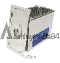 NEW 6L 180W Digital Heated Ultrasonic Cleaner For Jewelry Dental coin 220V