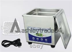 New 2L Digital Ultrasonic Cleaner Dental Lab jewelry with heater and Degas 220V