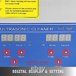 Pro 15l Ultrasonic Cleaners Cleaning Equipment 6 Sets Transducers Basket