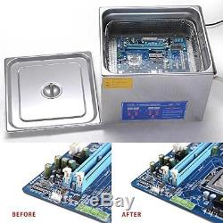 Pro Stainless Steel 15 L Liters 760W Ultrasonic Cleaner with Digital Heater
