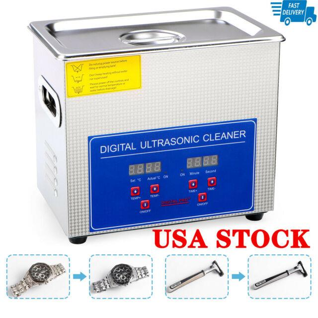 Professional Ultrasonic Cleaner With Digital Timer&heater For Jewelry Glasses 3l
