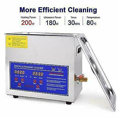 Professional Ultrasonic Cleaner With Digital Timer And Heater 304 6.5l