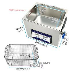 SKYMEN 10L Digital Ultrasonic Cleaner Solution Sonic Cleaning Machine for Carbs