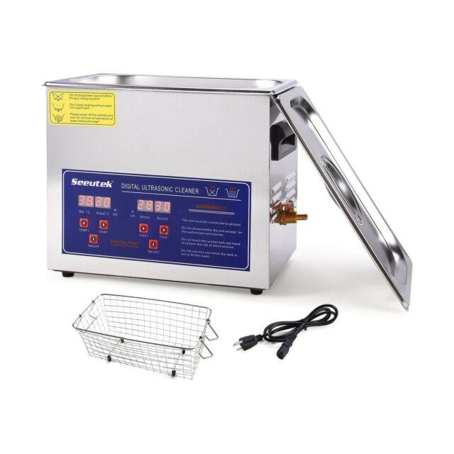 Seeutek Professional Ultrasonic Cleaner 6.5l With Digital Timer And Heater