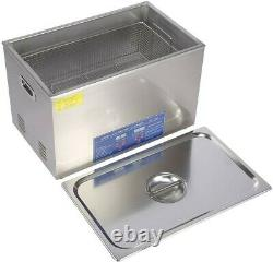 Stainless Digital Ultrasonic Cleaner 22L Timer ULTRA SONIC Cleaning Tank Basket