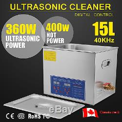 Stainless Steel 15L Industry Heated Ultrasonic Digital Cleaner Heater withTimer CA