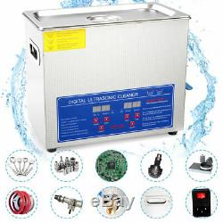 Stainless Steel 6 L Digital Industry Heated Ultrasonic Cleaner Heater withTimer US