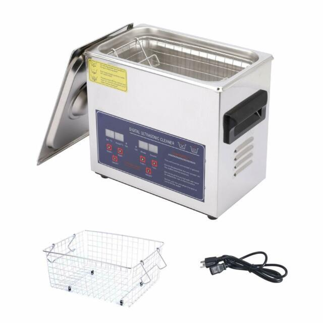 Ultrasonic Cleaner 3.2l Stainless Steel With Digital Timer And Heater For Jewelr