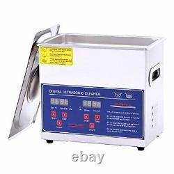 Ultrasonic Cleaner 3L Machine with Digital Timer and Heater for (3.2L)