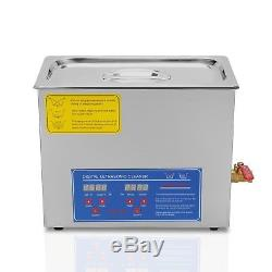 Ultrasonic Cleaner 6L Digital Timer Stainless Steel Heater Tank Cleaning Machine