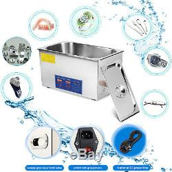 Ultrasonic Cleaner Cleaning Home Use Digital Control 10 Transducers Hot Newest