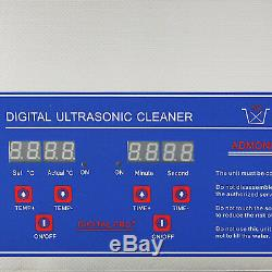 Ultrasonic Cleaner Digital Control Jewelry Clean 4 Transducers Easy Operation
