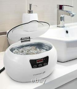 Ultrasonic Cleaner Professional Jewelry Polisher with Digital Timer 18 Preset