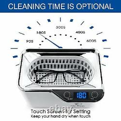 Ultrasonic Cleaner Support Watch For Sunglasses Jewellery Timer Digital