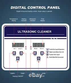 Ultrasonic Cleaner with Heater Ultrasonic Cleaning Machine Digital Control Panel