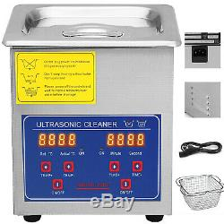 Ultrasonic Digital Timer Heater Cleaners Cleaning Equipment 2L 110W Bracket